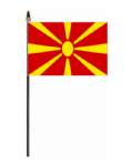 Macedonia Country Hand Flag - Small.